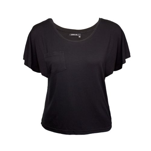 Basic top 'Amy' with flared sleeves