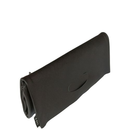 Clutch leather black