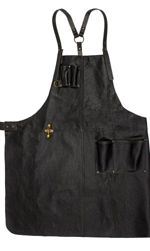 Handcrafted Leather Apron Black