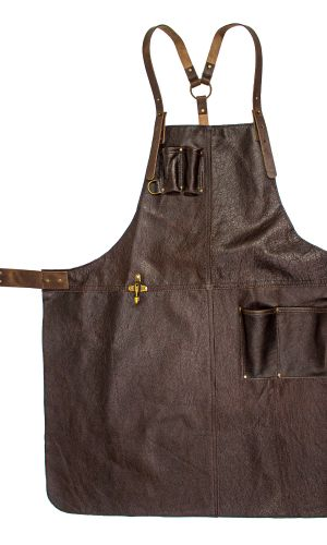 Handcrafted Leather Apron Brown