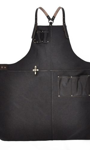 Handcrafted Leather Apron Dark Brown
