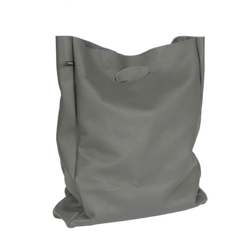 Leather shopper 'Lastic Bag' Grey