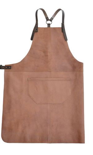 Handcrafted Leather Apron in a subtle Pink shade